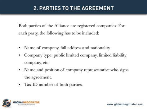Alliance Agreement Template international strategic alliance agreement contract