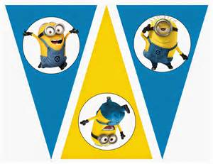 minions free printable bunting labels and toppers is