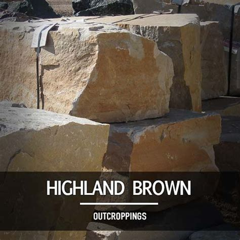 Highland Brown Outcroppings Rock Hard Landscape Supply Highland Landscape Supply