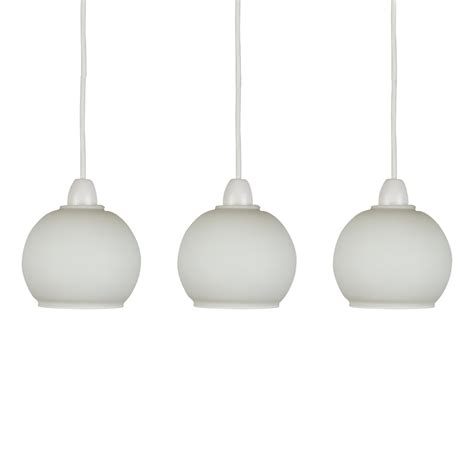 white glass pendant light set of 3 frosted white glass domed ceiling light pendant