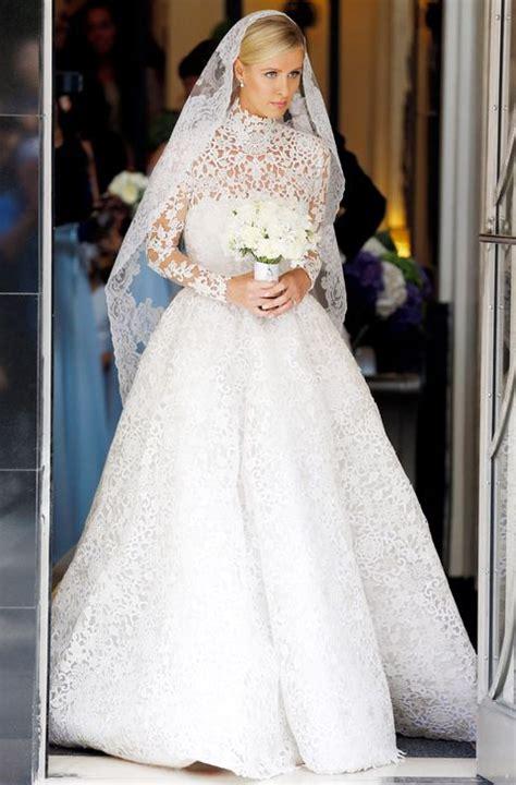 nicky hilton wedding dress nicky hilton weds james rothschild wearing a valentino