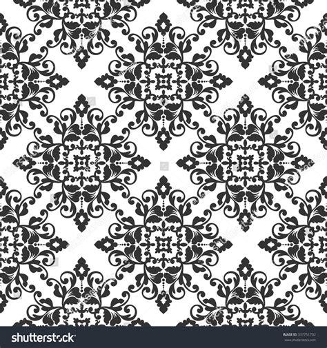 elegant wallpaper pattern black and white elegant damask wallpaper black white vintage stock vector