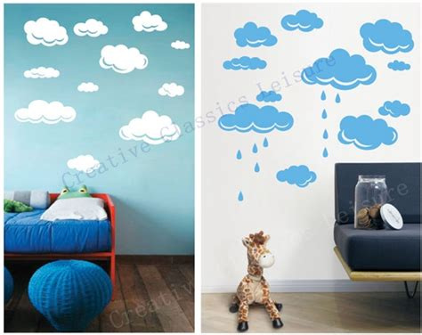 rooms to go free shipping free shipping drops clouds vinyl wall decal stickers for room wall decor white or