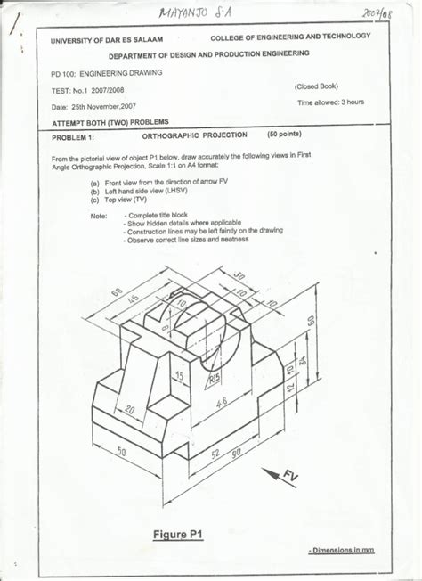 Drawing Questions by Engineering Drawing Questions Paper