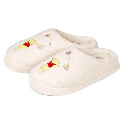 pooh slippers disney winnie the pooh terry mule slippers size 5 6 new