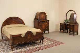 marquetry 1920 s size antique bedroom set 3 pc ebay