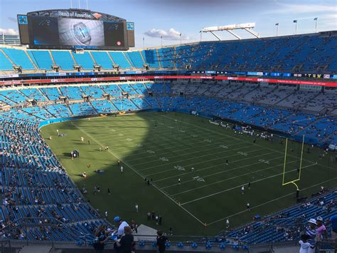 which of these happens in section xix bank of america stadium section 506 rateyourseats com