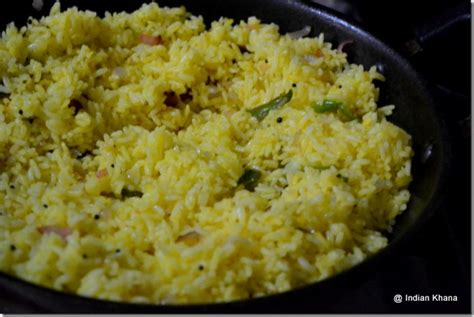 Lemon Rice Recipe ~ Indian Khana Lemon Rice Recipe South Indian Style