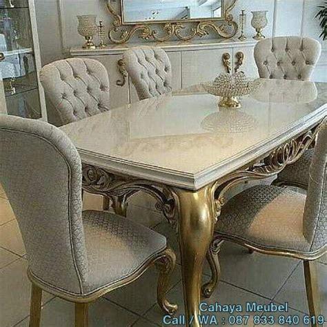 Meja Makan Jepara 6 Kursi set meja makan gold 6 kursi ukir jepara cahaya mebel jepara