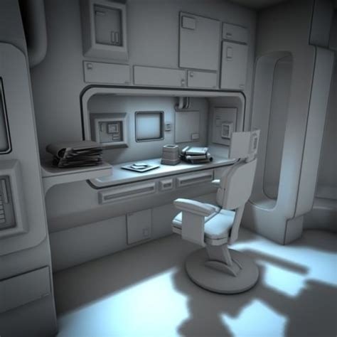 3d Kitchen Design Software Free spacecraft interior hd 2 3d model obj fbx lwo lw lws blend