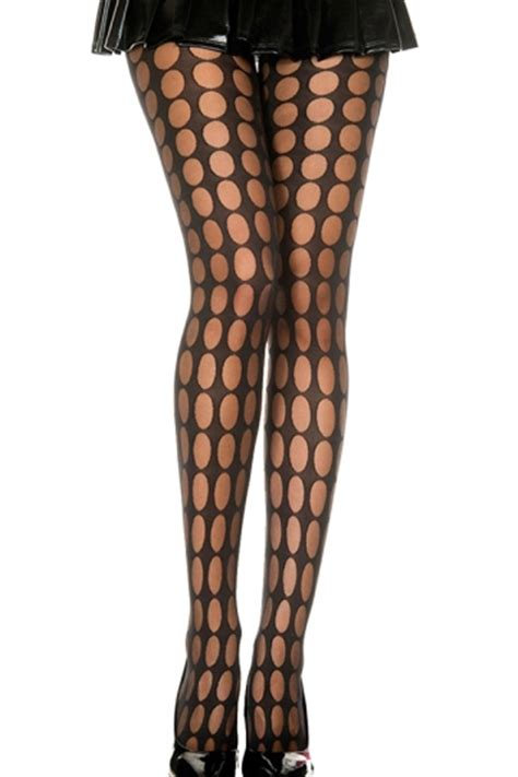 dot pattern tights black womens cut out polka dot pattern see through tights