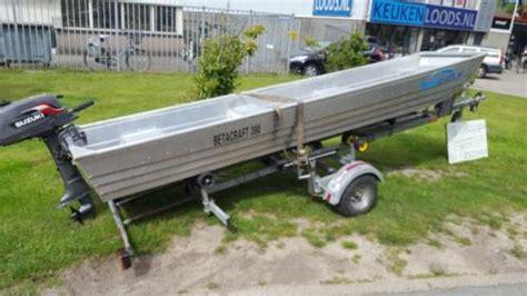 aluminium bootje met motor betacraft 390 aluminium met suzuki 4 pk 2 takt