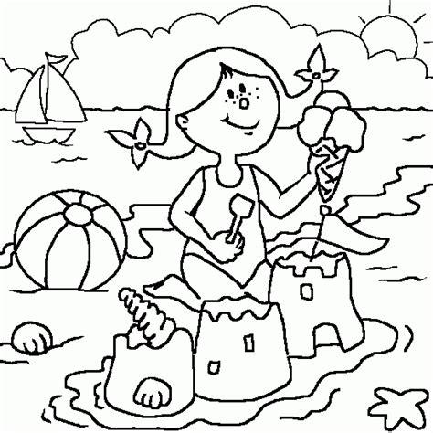 Color Del Verano Dibujos Verano Y Vacaciones Para Imprimir