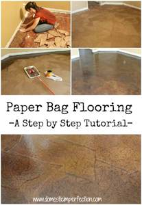 Cheap Kitchen Flooring Diy Easy Diy Brown Paper Floors