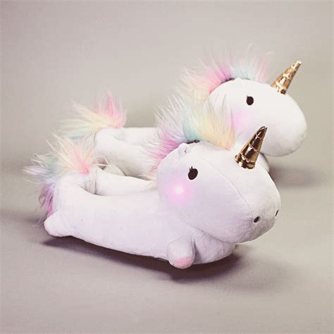 house shoes with lights enchanted light up unicorn slippers holycool net