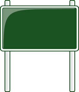 green road sign clip vector clip royalty