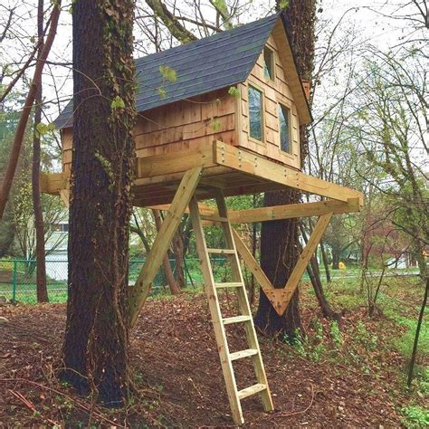 tree house plans for one tree alpino treehouse diy plans for one or two trees