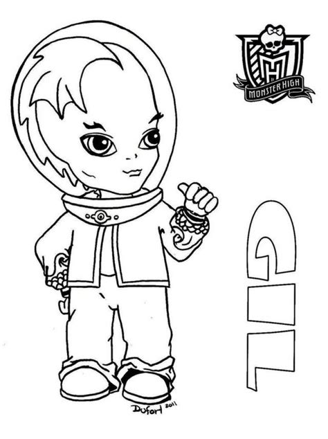boy doll coloring page monster high coloring pages baby monster high boy dolls
