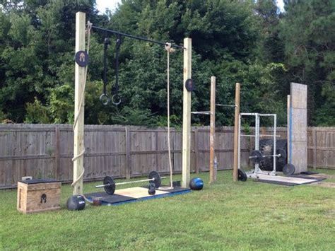 backyard gym ideas outdoor gym gym and no excuses on pinterest