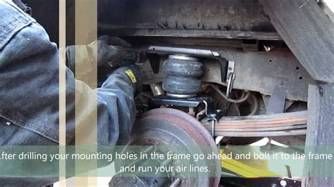 airbags for trucks truck suspension airbag installation firestone ride rite