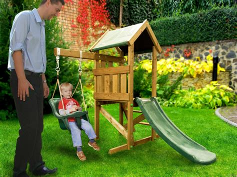 playhouse and swing kids small climbing frame baby swing slide set playhouse