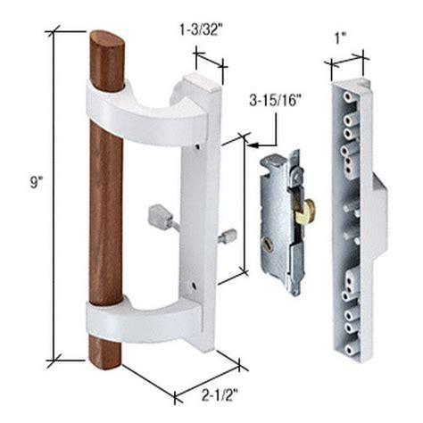 Sliding Glass Door Lock Parts Crl C1219 Sliding Glass Door Handle With Mortise Lock White Thebuilderssupply