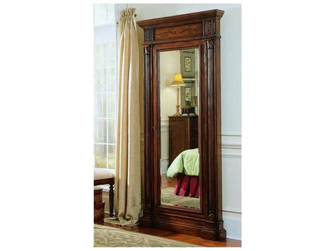 dark wood jewelry armoire hooker furniture dark wood 40 w x 85 h rectangular floor