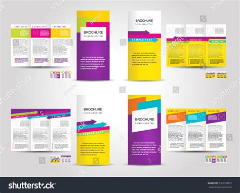 brochure design with trifold colorful template vector brochure tri fold layout design template colorful