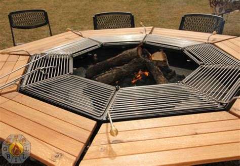 The ultimate fire pit bbq and table combo grill 1001 gardens