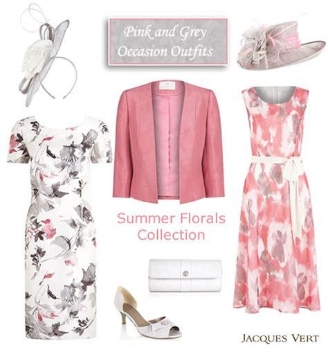 Dress Wanita Original Hgg 3204 pink and grey shift dress matching jacket and occasion coats