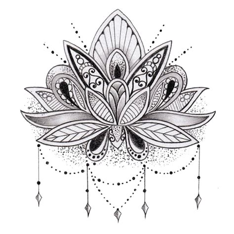 sets lotus flower temporary tattoos