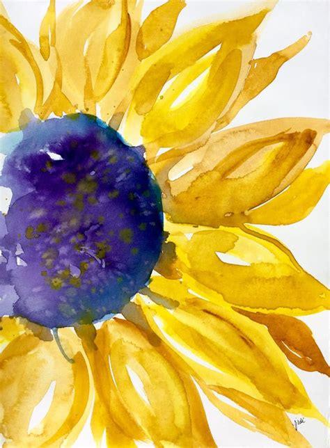 best 25 watercolor sunflower ideas on sunflower watercolour sunflower and