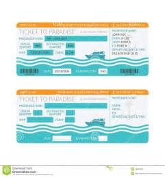 Sea cruise ship boarding pass or ticket template stock vector image