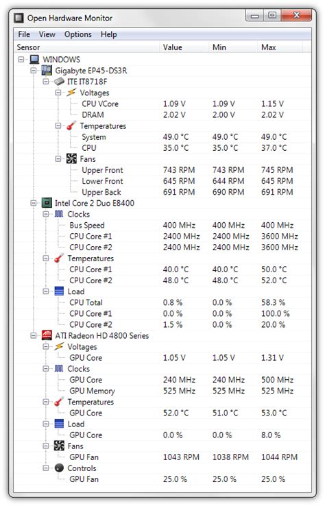 Monitor Dan Cpu open hardware monitor freeware de