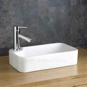 torre counter top white rectangular bathroom sink basin