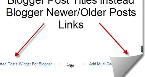 newer post older post how to replace older posts and newer posts links with