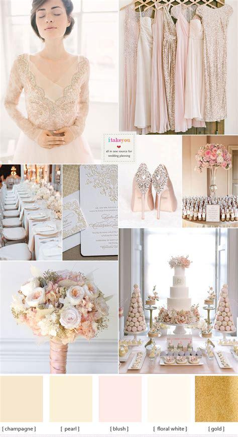 wedding colour themes uk chagne wedding theme with blush accents blush wedding