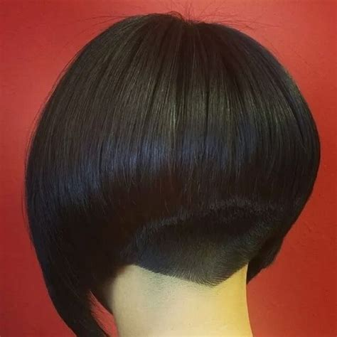 haircuts for cowlicks at nape nape undercut on pinterest dark brown bob with clippered nape short hair