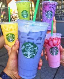colorful starbucks drinks colorful unofficial starbucks drinks create confusion