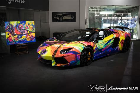 Miami Lamborghini Lamborghini Miami Creates Artistic Aventador Roadster
