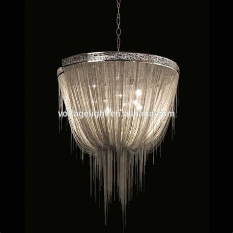 Lights And Chandeliers Modern Interior Decoration Chandelier Project Pendant Lighting Handmade Silver Aluminum Chain