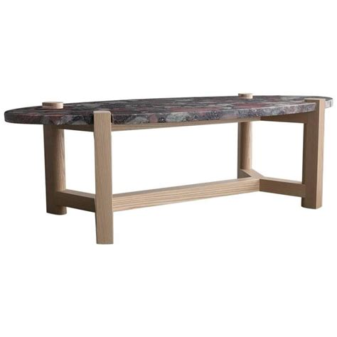 coffee table marinace granite and ash hardwood