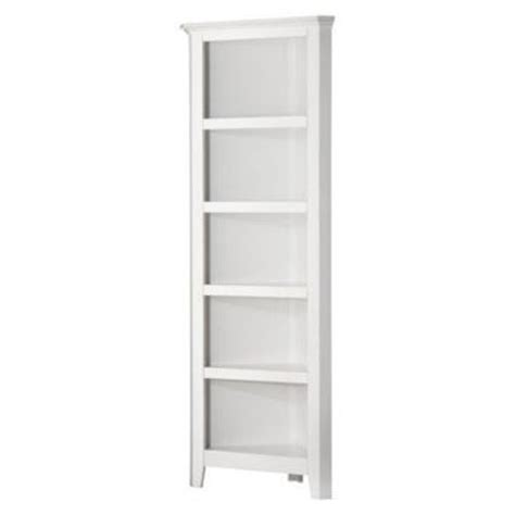 carson 5 shelf corner bookcase white from target