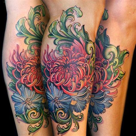 tattoos without outlines 16 best chrysanthemums images on