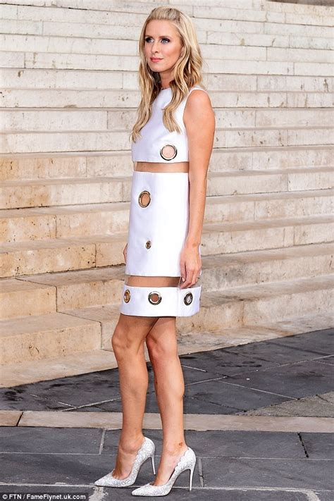 Nickys Dress On Fit Bad On Style by Nicky Puts On Cheeky Display At Versace Show