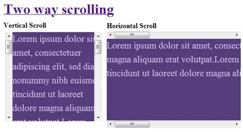 div auto scroll two way scrolling in single div jquery 2 dotnet
