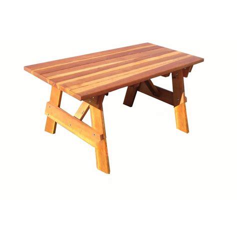 folding picnic table home depot leisure season portable patio folding picnic table pft12