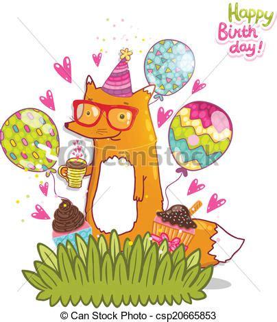 imagenes hipster de feliz cumpleaños clipart vectorial de feliz cumplea 241 os hipster tarjeta