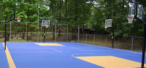 custom basketball courts with basketball court flooring