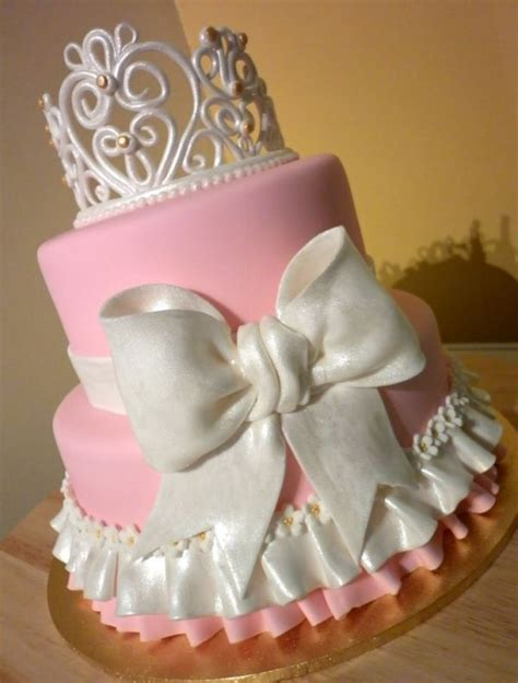 Girly Baby Shower Cakes by Princess Cake For A Baby Princess Baby Shower Cakes